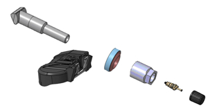 TPMS tire valve sensor complete assembly: Courtesy of Continental Commercial Vehicles & Aftermarket.