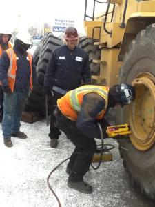 Properly training OTR tire service techs is a key link in the customer service chain. TIAoffers an outstanding OTRtire service program.