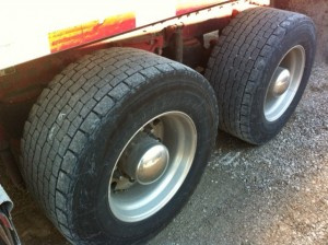 Wide base single tires, like these from Double Coin, offer up to a 7% improvement in fuel economy.