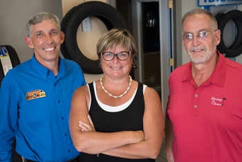 """Pictured (From Left to Right): Primary owners Patrick """"Bubba"""" McMahon, Kim McMahon and Randy Geyer."""