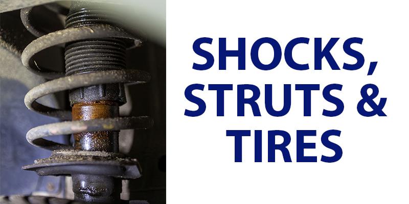 Shocks struts tires wear