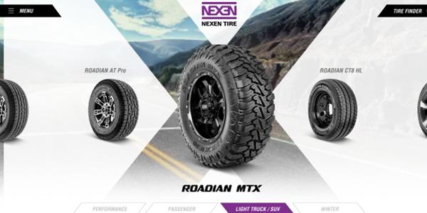 Nexen Tire mobile app