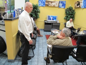 When time allows, engage with the customers in your waiting area to help build relationships.