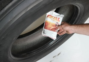 While machine balancing is most common, many fleets have gone the route of adding a balance correcting material to the inside of the tire, or using