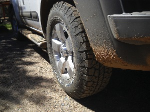 The Bfgoodrich Rugged Terrain T/a Tire Fits Between The Long Trail T/a