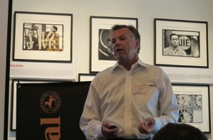 Continental Tire the Americas' Joe Maher, passenger product manager, addresses event attendees.