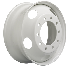 The use of high-strength, low-alloy steel coupled with engineering design and process allows the company to also offer a lightweight steel wheel featuring the economy and strength of a standard steel wheel and weight similar to an aluminum wheel.